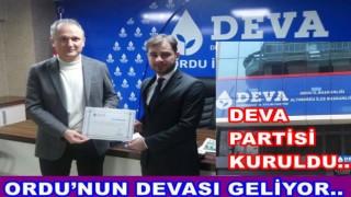 DEVA PARTİSİ ORDU İL GENELİNDE ÖRGÜTLENİYOR..