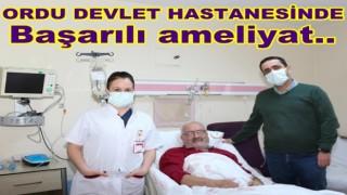 Ordu Devlet Hastanesinde başarılı bir operasyon daha yapıldı..