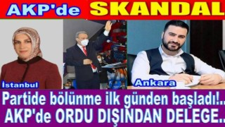 Başkan Tomakin, Ankara'lı ve İstanbul'luyu Ordu il delegesi yaptı.