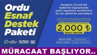 ESNAF DESTEK PROJESİ'NİN BAŞVURULARI BAŞLIYOR..