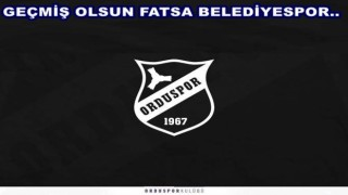 Orduspordan, Fatsa Belediyespor'a geçmiş olsun mesajı…