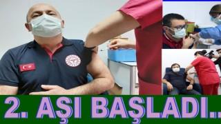 Sağlık Çalışanlarının. 2. doz aşıları başladı..