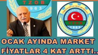 Türkiye Ziraat Odaları Birliği artan fiyatlara tepkili..
