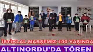 Altınordu Belediyesinden İstiklal Marşı töreni düzenlendi.