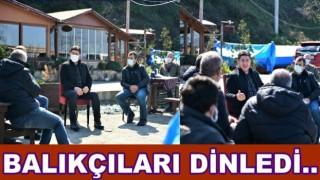 Başkan Aşkın Tören Balıkçılarla buluştu..