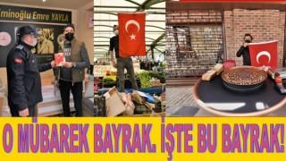 ALTINORDU BELEDİYESİ 23 NİSAN ÖNCESİ TÜRK BAYRAĞI DAĞITTI..