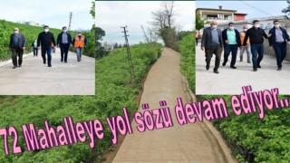BETON YOL MESAİSİNDE SIRA AKÇATEPE MAHALLESİNDEYDİ..