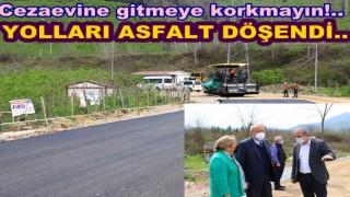 CEZAEVİ YOLUNA SICAK ASFALT DÖKÜLDÜ..