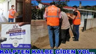 Altınordu Belediyesi yardımları kapı kapı ulaştırıyor..