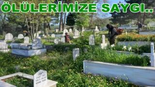 Büyük Şehir Mezarlık temizliğine başladı..