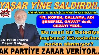 AK Partili Belediye başkanı Yaşar Şahin'e hakaret cezası..