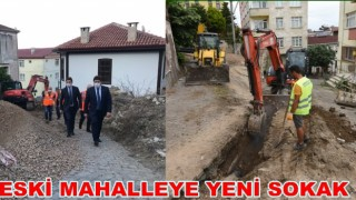 Tarihi Mahallenin eski sokakları yenileniyor..
