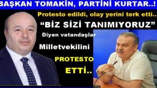 AKP'li Milletvekili vatandaşlar tarafından protesto edildi..