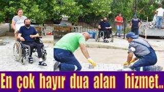 ENGELLİ VATANDAŞIN YOL SORUNU ÇÖZÜLDÜ..