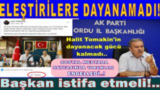 AKP İL BAŞKANI TOMAKİN ARTIK PES ETTİ..