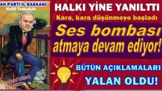 AKP Ordu İl başkanı Halit Tomakin partisini bitiriyor..