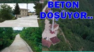 ALTINORDU BELEDİYESİNDE BETON YOLA DEVAM..