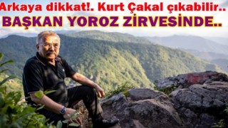 Başkan Hilmi Güler, Yoroz tepesinden çevreye baktı..