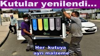 ŞEHİR MERKEZİNE YENİ ATIK KUTULARI EKLENDİ..