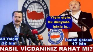 SENDİKA BAŞKANLARININ GÖZÜ ÜYELERİN CEBİNDE..