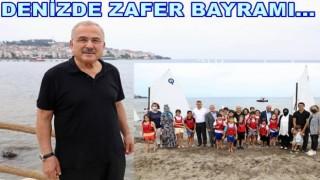 YELKEN VE KANOLAR ZAFER BAYRAMINDA DENİZLE BULUŞTU..