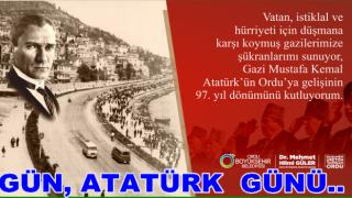 BAŞKAN GÜLER'İN 19 EYLÜL, GAZİLER GÜNÜ MESAJI..