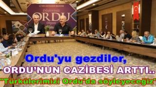 İŞ İNSANLARI, GAZETECİLER ORDU'YA GELDİLER..