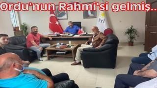 ÖLÜMDEN DÖNEN İŞ ADAMI RAHMİ ÇAĞAN ORDU'YA GELDİ..