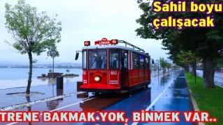 ORDU SAHİLİNE NOSTALJİK TRAMVAY GELDİ..