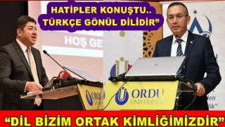 Türk Dil bayramı için Üniversitede tören yapıldı..