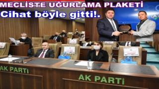 Altınordu Belediye Meclis toplantısında uğurlama töreni..