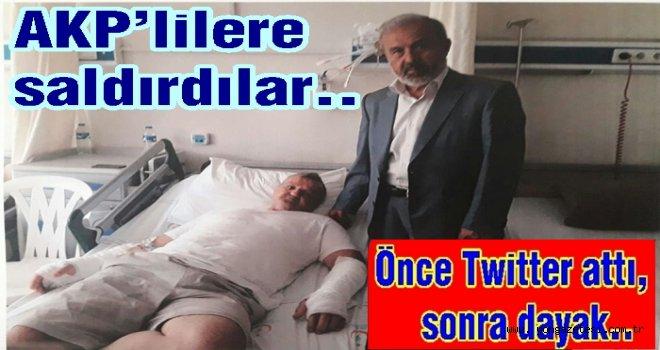 AKP'nin Seçim kutlama konvoyu saldırıya uğradı..