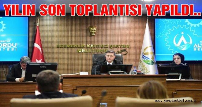 Altınordu Belediyesi Aralık ayı meclis toplantısı yapıldı..