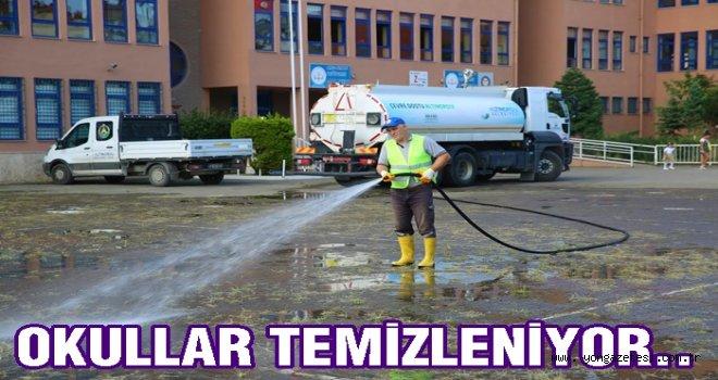 Altınordu Belediyesi Okulları temizliyor..