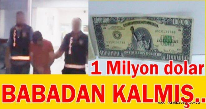 BİR ADET BİR MİLYON AMERİKAN DOLARI YAKALANDI..