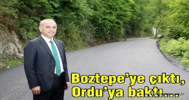 Boztepe'ye konforlu alternatif yol..