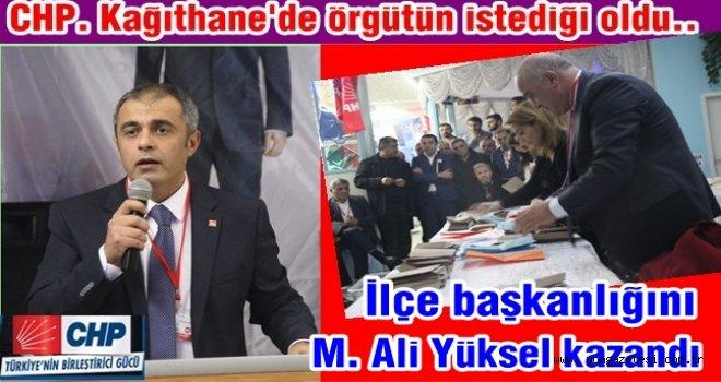 CHP'nin yeni ilçe başkanı Mehmet Ali Yüksel..