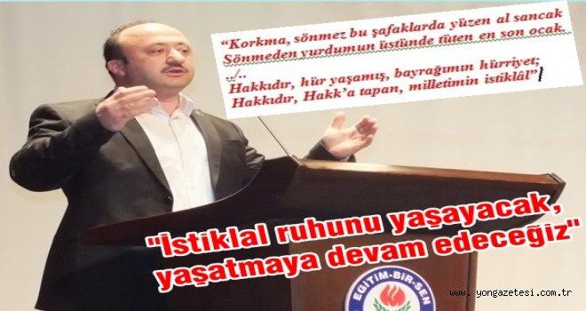 İsmail ÇELENK, İstiklal Marşımızın 96. yılı için açıkladı..