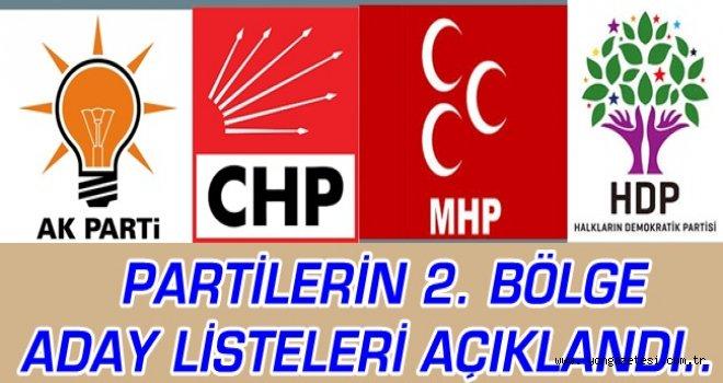 PARTİLERİN İSTANBUL 2. BÖLGE ADAYLARI..