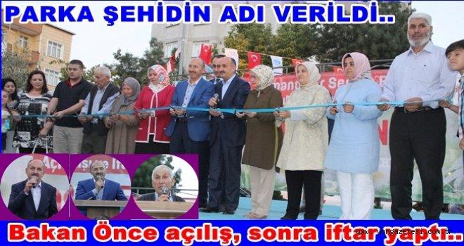 Sağlık Bakanı Müezzinoğlu Park açılışı yaptı..
