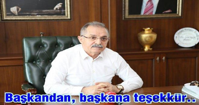 Servet Şahin, Hilmi Güler'i kutluyor..