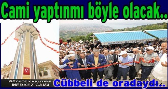 Türkiye'nin ilk seyir teraslı Camisi açıldı..