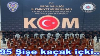 YOLCU OTOBÜSÜNDE KAÇAK VİSKİ YAKALANDI..